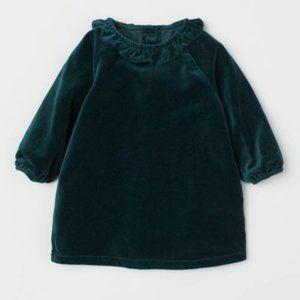NWT H&M Cotton Velvet Dress | 2-3Y